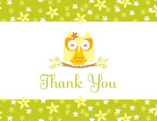 Cutie Owl Thank You Cards