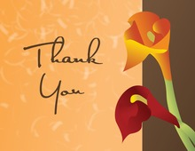 Sunset Lilies Orange Thank You Cards