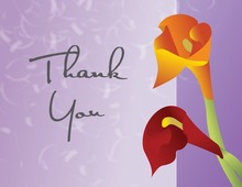 Sunset Lilies Lavender Thank You Cards
