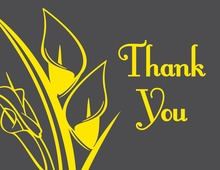 Modern Yellow Lilies Thank You Cards