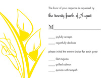 Modern Yellow Lilies RSVP Cards