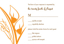 Modern Orange Lilies RSVP Cards