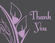 Classic Lavender Lilies Thank You Cards