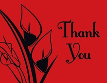 Simple Lilies Red Thank You Cards
