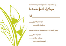 Simple Lilies Lime RSVP Cards