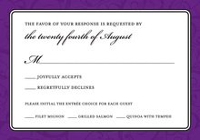 Modern Purple Flourish RSVP Cards
