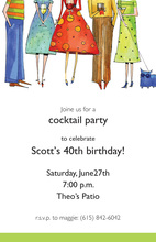 Fun Cocktail Posse Party Invitations