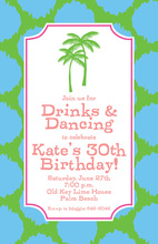 Preppy Palms Beach Invitations