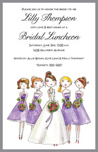 Bride and Maids Invitation