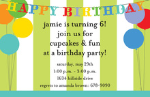 Birthday Decorations Invitation