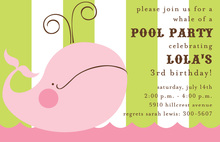 Pink Whale Invitation