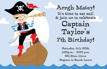 Ahoy Boy Birthday Party Invitations