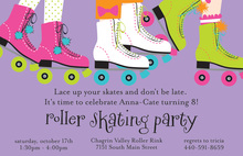Funky Skates Birthday Invitations