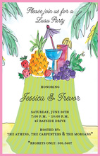 Memorable Tropical Table Invitation