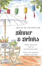 Backyard Deck Outdoor Party Invitations
