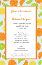 Everyone Loves Fresh Citrus Invitations