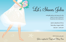 Elegant Tropical Beach Bride Invitations