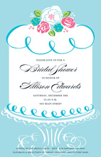 Dreaming Blue Cake Invitations