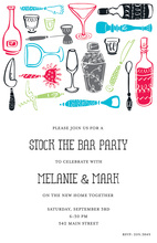 Bright Color Bar Tools Invitations