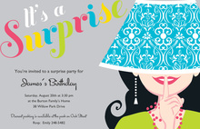 Bright Lampshade Secret Hat Invitations