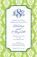 Green Avocado Ikat Invitations
