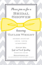 Memorable Elegant Yellow Bow Invitations
