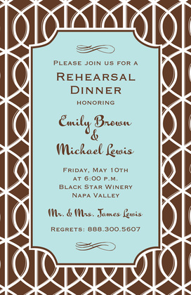 Exquisite Slate Trellis Invitation
