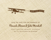 Airplane Linen Personalized Note Cards