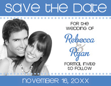 Banner Blue Save The Date Photo Cards