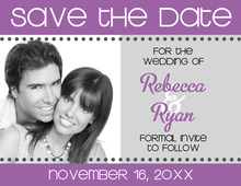 Banner Plum Save The Date Photo Cards
