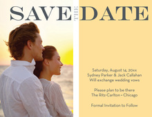 Marked As Yellow Save The Date Photo Cards