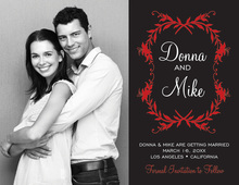 Holiday Floral Bookplate Save The Date Photo Cards