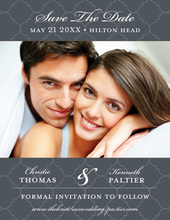Charcoal Tiles Save The Date Photo Cards