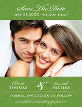 Green Tiles Save The Date Photo Cards
