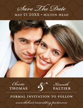 Chocolate Tiles Save The Date Photo Cards