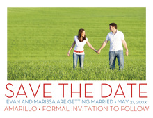 Simple Red Save The Date Photo Cards