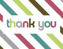 Multicolor Stripe Thank You Cards