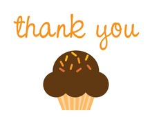 Super Cupcake Thank You Cards