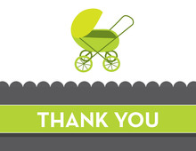 Modern Green Buggy Thank You Cards