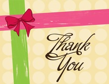 Present Style Pink Thank You Cards