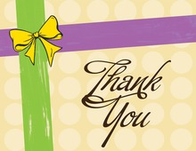 Present Style Purple Thank You Cards