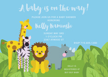 Jungle Friends Blue Sky Invitations