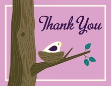 Nest Purple Thank You Cards