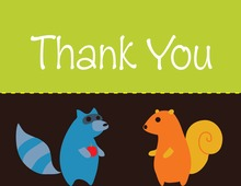 Woodland Friends Thank You Cards