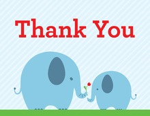 Blue Elephants Thank You Cards