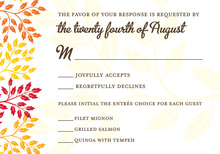 Colorful Modern Leaves RSVP Cards