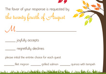 Beautiful Fall Leaves RSVP Cards
