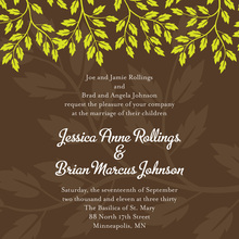 Modern Green Spring Leaves Beautiful Invitations