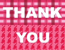 Pink Block Thank You Cards