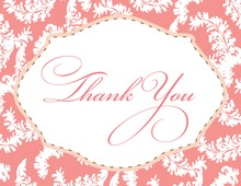 Pink Baby Frame Thank You Cards